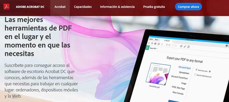 Programa Adobe acrobat pro dc