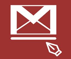 Logo com caneta assinatura email Gmail Google