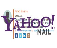 Logo do Yahoo mail com assinatura de email
