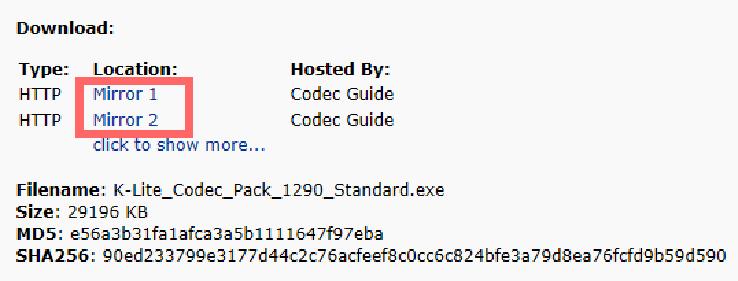 Página Codec para Assistir vídeos em qualquer formato