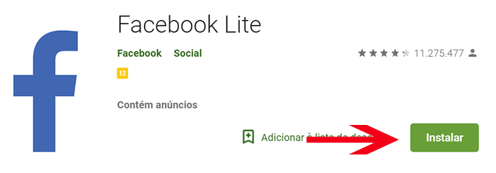 Baixar Facebook Lite aplicativo
