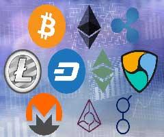 Logo das 10 principais criptomoedas