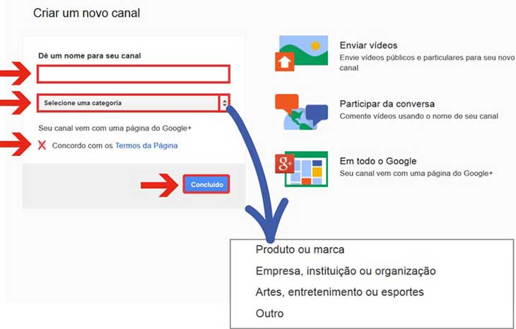 Canal empresa do Youtube