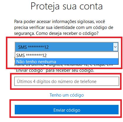 Como alterar senha hotmail passo 03