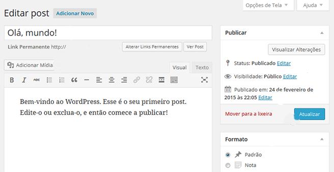 Como criar um post no WordPress