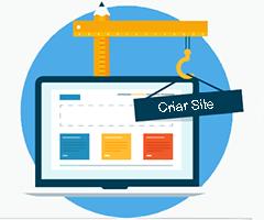 Monior com ferramenta para criar site online