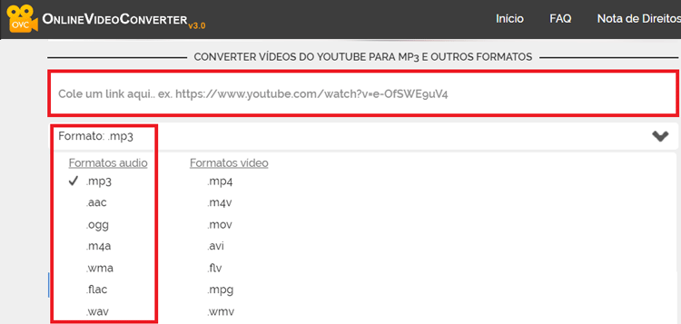Como converter arquivo de audio do Youtube