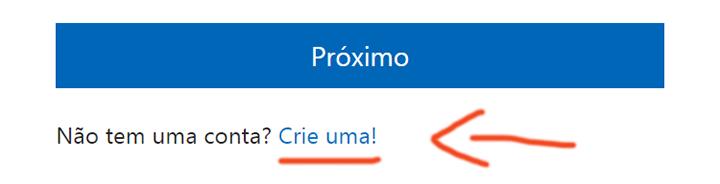 Criar conta email Hotmail