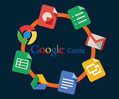 Logo do Google com Gmail, Drive, Youtube