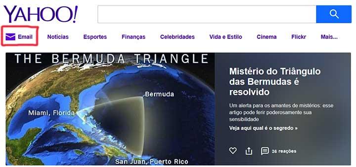 Criar email Yahoo Mail
