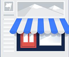 Loja virtual como página do facebook