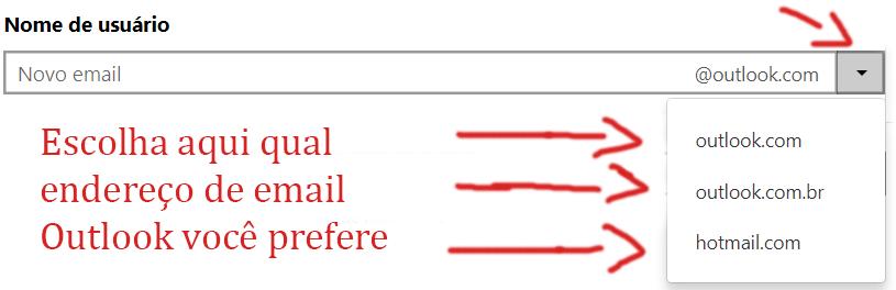 Criar Hotmail endereço