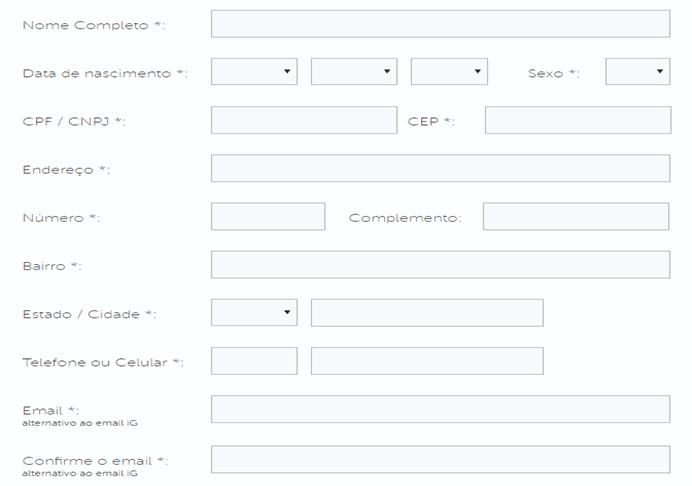 Form Criar IG Mail