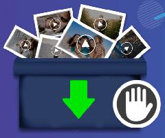 Ícone Facebook Download videos privados