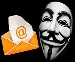 Email Anônimo Máscara V de Vingança