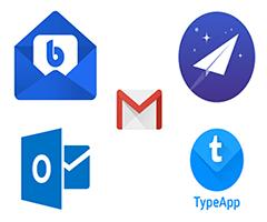 Logotipos dos melhores aplicativos de email para celular