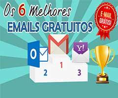 Logos dos melhores emails grátis - Outlook, Gmail, Yahoo Mail