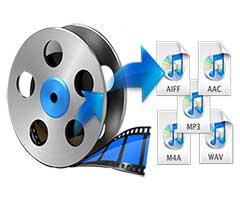 Logo de um video e vários áudios extraídos