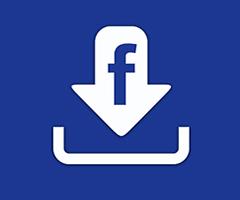 Logo do Facebook download azul