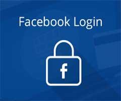 Cadeado com fundo azul do Facebook login