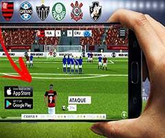 Tela com Melhores games futebol celular Android