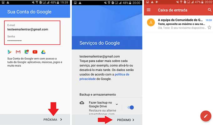 Gmail Entrar pelo Celular 03