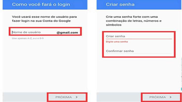 Página Gmail entrar celular