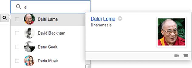 Tela bate papo Google hangouts