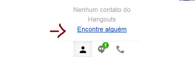 Tela do Hangouts no Gmail