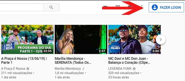 Inscrever canal Youtube conectar