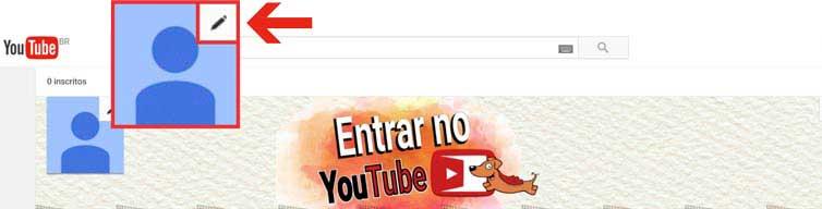 Como inserir foto de perfil Youtube