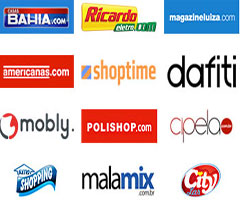 Logos das melhores lojas de compras online