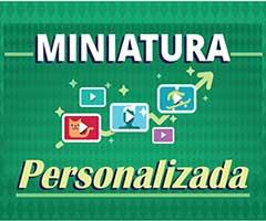 Miniatura personalizada do Youtuibe thumbnail
