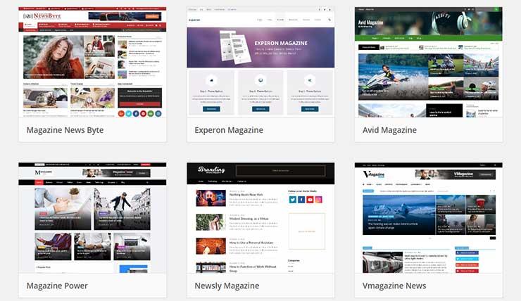 Modelos de blog prontos WordPress download