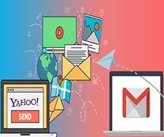 Logo Yahoo Mail mover Logo Gmail