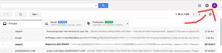 Mudar conta google