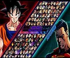 Tela jogo luta mugen goku vs superman