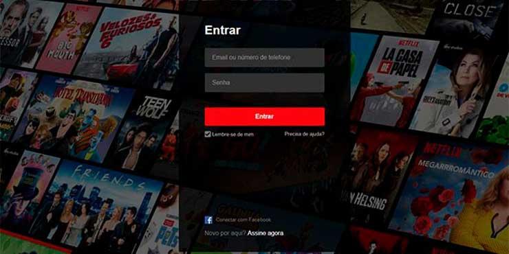 Netflix entrar conta