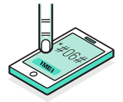 Telefone celular mostrando número IMEI