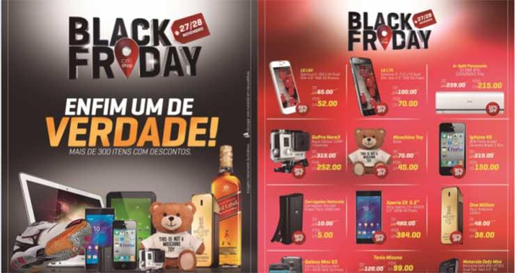 Panfleto ofertas Black Friday