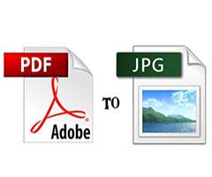 Ícone PDF se Transformando em imagem JPG
