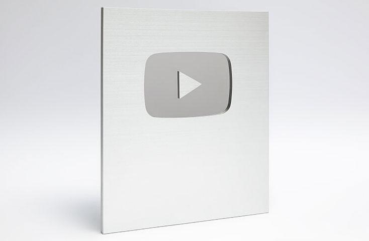 Placa do Youtube de Prata