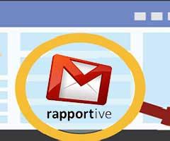 Lupa mostrando logo Rapportive Gmail Plugin
