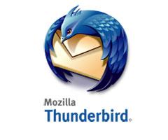Logo do programa cliente de email Thunderbird do Mozilla