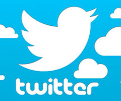 Logo do Twitter fundo azul