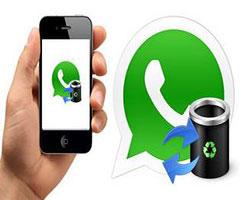 Celular com mensagem apagada Whatsapp