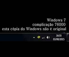 Tela preta do Windows pirata