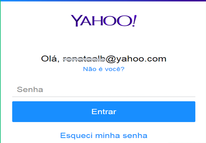Yahoo Mail entrar com senha